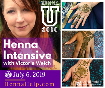 Learn how to create henna designs with Victoria Welch