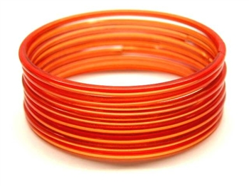 Heavy Red Indian GLASS Bracelets Build-A-Bangle M/L 2.10