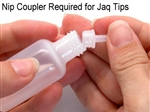 These Jacquard plastic nips couplers are required to use metal jac tips on henna squeeze bottles. Jaq bottles make henna easy for, even beginning, henna artists.