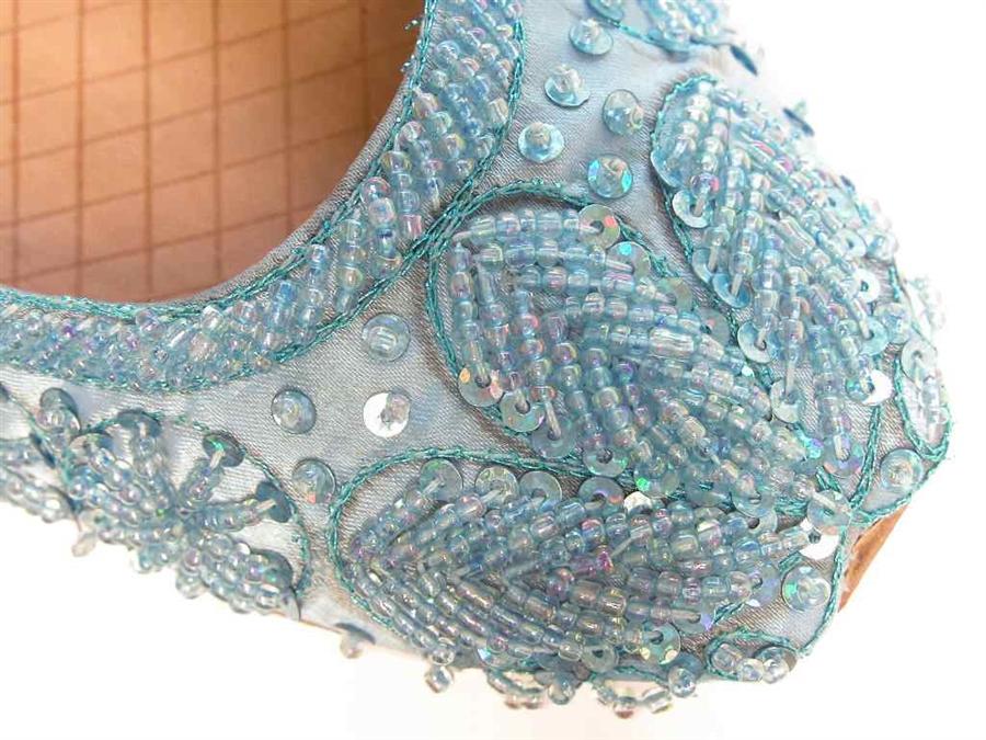 Something Blue Wedding Shoes Flats