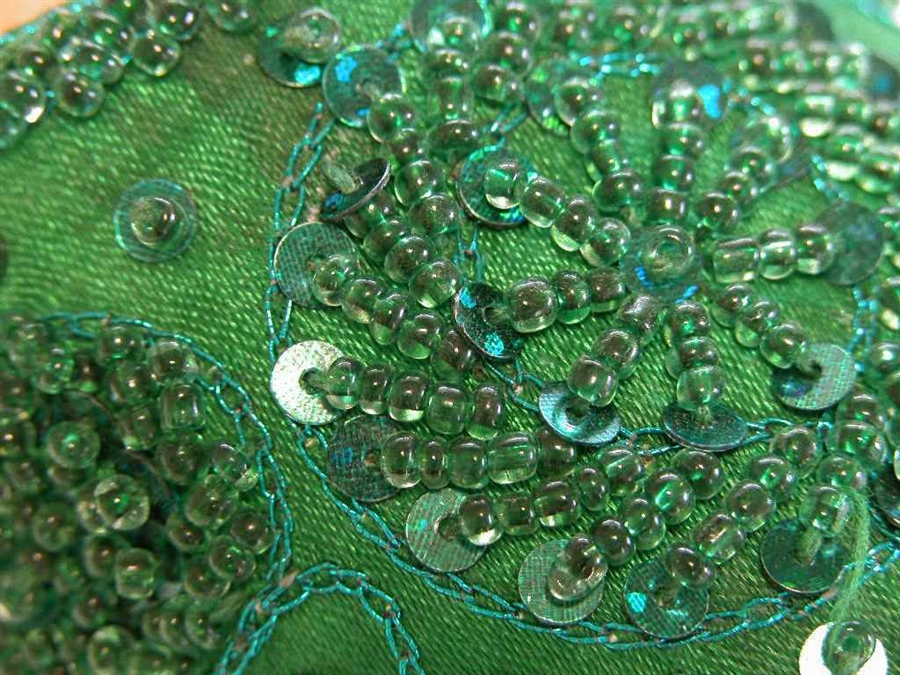 79867069ff6 Emerald Green Beaded Shoes