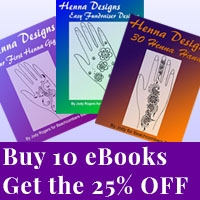 Get 25% off henna design eBooks