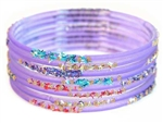 Confetti Lavender Purple Indian GLASS Bracelets Build-A-Bangle XL 2.12