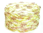 Yellow Indian GLASS Bracelets Build-A-Bangle M/L 2.10