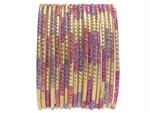 Pink and Purple Princess Bangles