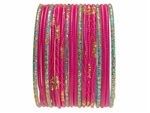 Brilliant Turquoise and Magenta Bangles