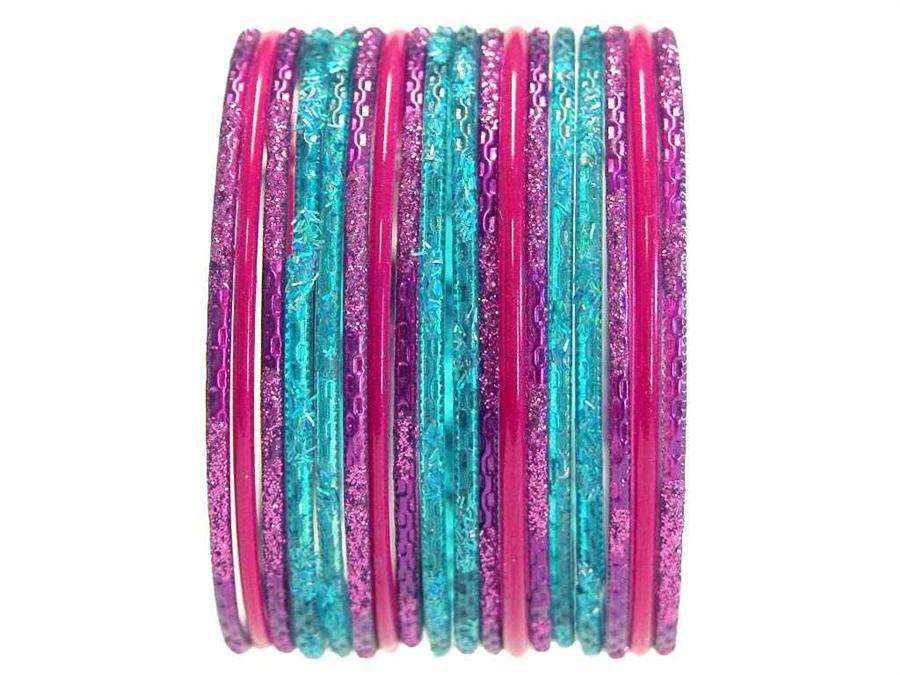 Clic Indian Bangles In Brilliant Colors
