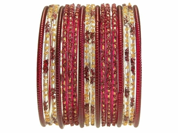 Maroon Wedding Bangles