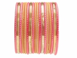 Lovely Sunshine Glass Bangles