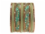 Bronze Brown and Green Bangles