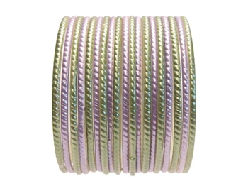 Sage Lavender and Green Glass Bangles