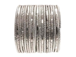 Sparkling Silver Chrome Indian Glass Bangles