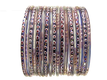 Blue Indian Glass Bangles Bracelet Sets