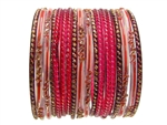 Red Indian Glass Bangles Bracelet Sets