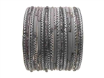 Gray Indian Glass Bangles Bracelet Sets