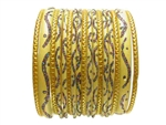 golden Yellow Glass Bangles Bracelet Sets