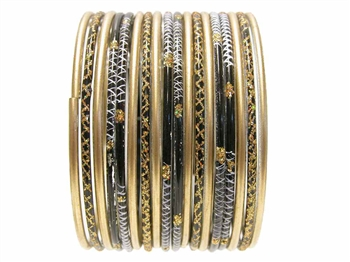 Pretty Indian Glass Bangles Set