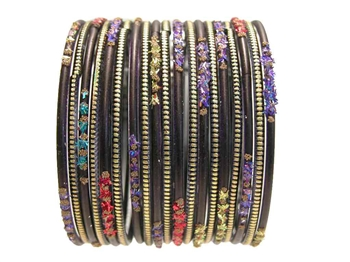 black Indian Glass Bangles