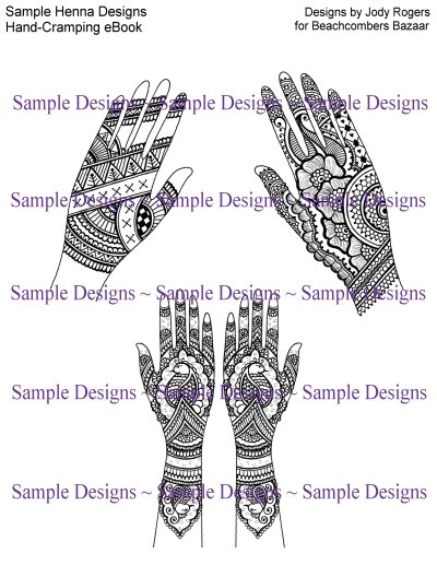 Henna Tattoo Ebook Hand Cramping Henna Design Masterpieces