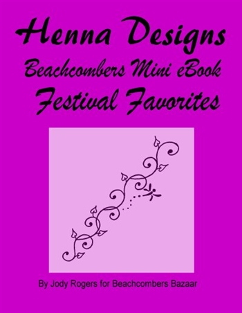 The henna designs in this eBook will be some of your most popular designs this henna festival season.  Quick easy-to-do henna designs are mostly geared toward teenage-middle aged women.