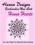 Mini henna eBook packed with henna heart designs. Mini Henna eBooks are less than $2 and a great for adding to your festival henna design books or for personal use.