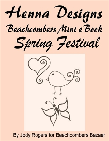 The Spring Festival Mini eBook has great easy-to-henna low cost designs geared towards kids. There are some cute henna designs adults will like too.