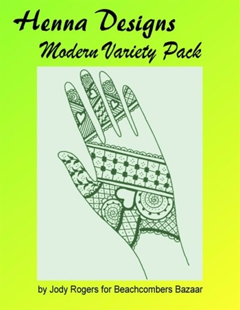 Henna design eBook focused on creating a variety of mehndi designs and styles for henna tattoos. Traditional styles such as Indian henna, Arabic henna, and Moroccan henna done in fresh modern ways along with Western styles.