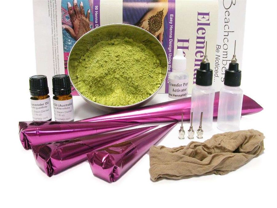 Big Bad Henna Tattoo Starter Kit for Beginners: Includes Transfer Paper -  BEST VALUE!