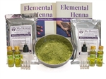 This henna kit is specially created for fundraisers and provides enough henna to experiment and learn henna basics while leaving you enough henna to do 200-400 standard size henna tattoos.