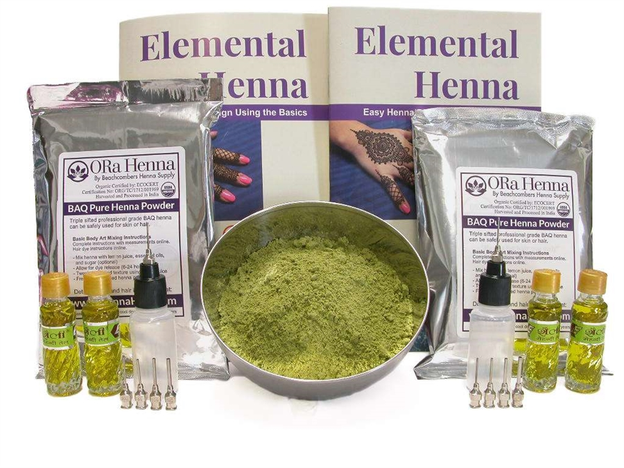 Powder Henna Tattoo Kit for Fund Raising Events and Festivals
