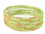 Lime Green Indian GLASS Bracelets Build-A-Bangle S 2.6