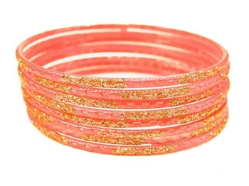 Peach Indian GLASS Bracelets Build-A-Bangle S 2.6