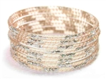 Silver Glitter Taupe Indian GLASS Bangles Sari Bracelets Build-A-Bangle 2.6