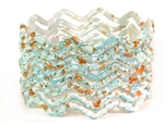 Zig Zag Sky Blue Indian GLASS Bracelets Build-A-Bangle M/L 2.10