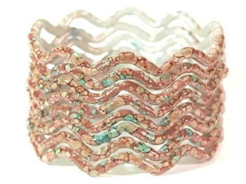 Zig Zag Brown Indian GLASS Bracelets Build-A-Bangle M/L 2.10