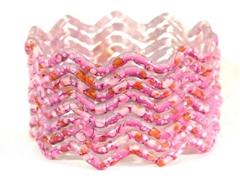 Zig Zag Orchid Indian GLASS Bracelets Build-A-Bangle M/L 2.10
