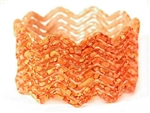Zig Zag Orange Indian GLASS Bracelets Build-A-Bangle M/L 2.10