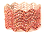 Zig Zag Red Indian GLASS Bracelets Build-A-Bangle M/L 2.10