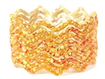 Zig Zag Golden Yellow Indian GLASS Bracelets Build-A-Bangle M/L 2.10