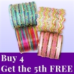 Buy 4 glass bangle sets, get the 5th bracelet set free.