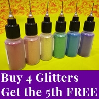 Buy 4 glitter poof bottles, get the 5th bottle free.