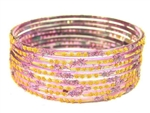 Holographic Lavender Indian GLASS Bracelets Build-A-Bangle XL 2.12
