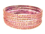 Holographic Lavender Indian GLASS Bracelets Build-A-Bangle L 2.10