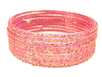 Holographic Pink Indian GLASS Bracelets Build-A-Bangle XL 2.12