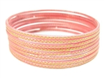 Stamped Pink Indian GLASS Bracelets Build-A-Bangle XL 2.12