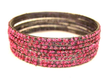 Black Magenta Indian GLASS Bracelets Build-A-Bangle L 2.10