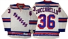 Reebok Premier NHL New York Rangers #36 Mats Zuccarello  Away White Jersey
