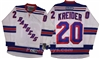 Reebok Premier NHL New York Rangers #20 Chris Kreider Away White Jersey