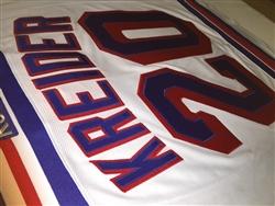 ... Reebok Premier NHL 2016-17 New York Rangers 20 Chris Kreider Away White  Jersey ... ae852dd0e