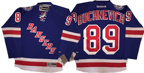 Reebok Premier NHL 90th Anniv New York Rangers  89 Pavel Buchnevich Home  Blue Jersey a8eba1357